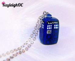 TARDIS Necklace by KayleighOC