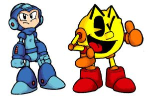 MegaMan AND PacMan by Marioshi64