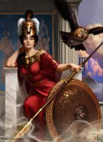 Goddess Athena by ChrisRallis