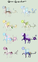 Queen GardenFox adopt sheet auction 2: only 1 left by StarDust-Adoptables