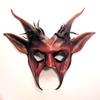 Devil Goat Leather Mask Krampus Pan by teonova
