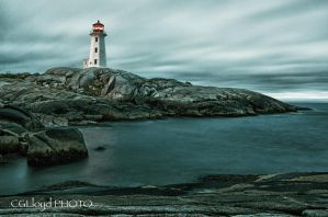 Early Dawn Peggy's Cove Lighthouse by GreyVolk