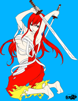 Fairy Tail  Sexy Erza Scarlet Fantasia Colored by DLeagueman