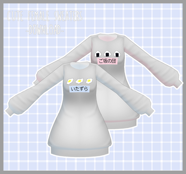 Cute Female Sweaters [DOWNLOAD]  Thanks for 600! by Avant-Garde3D