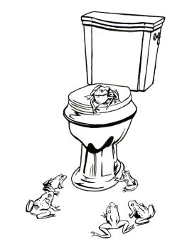 Bullfrogs and Toilet by mlauritano