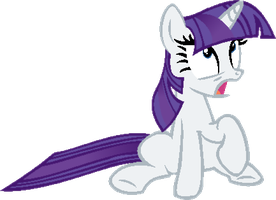 Rarity what happened to your mane? by Laser-Pancakes
