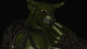 Gormar the giant mega Orc with horns (new version) by Spino2006
