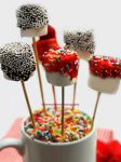 Marshmallow Lollipops by theresahelmer