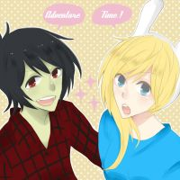 AT : Marshall Lee and Fionna by EmilyHime