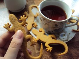 Ginger Newts by f-uhura