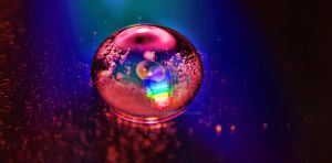 Water Drop and Ice by jeremyfe
