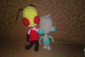 project invader zim: zim and gir undisgused by michelle-murder