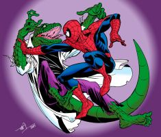 Lizard vs. Spidey in Colour by TimLevins