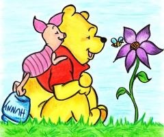 Pooh and Piglet by acid-drinker