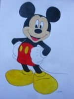 Mickey Mouse Watercolor by willow1894