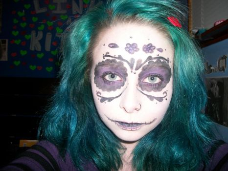 Sugar Skull Makeup by IndistinctStoner