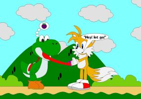 Yoshi And Tails by Kphoria