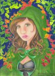 Little Green Riding Hood by Hurricane-Jeanne