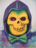 Skelebow Tie by HillaryWhiteRabbit