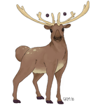 realistic_stantler by GrimoireDays