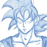 Blue Goku by Nei-Ning