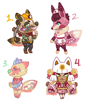 Offer To Adopt: Dachipon Set 1 (1/4 OPEN) by foxpill
