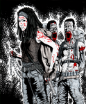 Michonne and her Walkers by Art-Gem