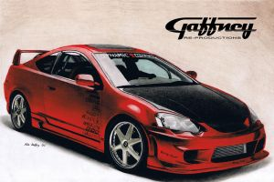 Colored Pencil Acura RSX by theGaffney