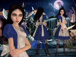 alice madness returns: bright blue dress by jomic-95