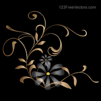 Vector Background with Golden Floral by 123freevectors