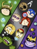 Head Avengers by LugaArts