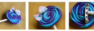 Sweet Lollipop Brooch by denimcraze