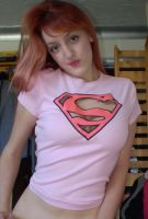 Supergirl Cut Out Top by Liz-a-smurf