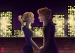 Rooftop - Gwen and Peter by Thealess