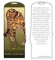 King Cheetah Bookmark by DawnFrost