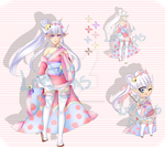 Flower Kimono Girl Auction: OPEN by LambuAdopts