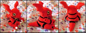 Guilmon Plush by d215lab