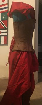 Little Red Corset Outfit Side by obeytherandomness