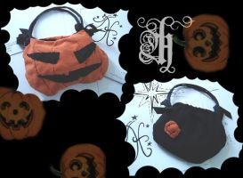 Halloween Pumpkin Bag-2 in one by HeCHiZo