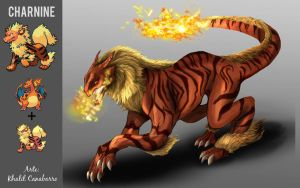 Pokemon Fusion - Charnine by Chronokhalil