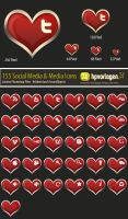 30 Valentine Icons - PSD by hpv24sabine
