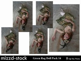 Green Rag Doll Pack 14 by mizzd-stock
