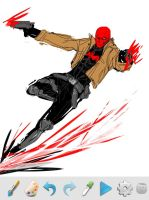Red Hood iphone doodle by dorkynoodle