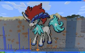 Keldeo On Minecraft by Miccopicco
