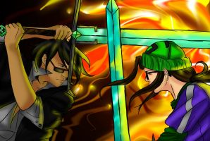 Clash of Swords - MidnightVixen by iggyt14