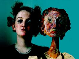 Tomasin and her puppet, 2003 by SeriousAlex