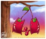 .::Cherry Twin Cats::. by CamiFortuna