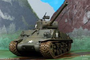 M4A3E8 Sherman Front by 12jack12