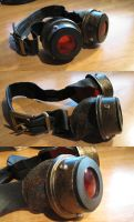 Red Steampunk Goggles by hawanja