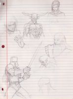 Random character sketches by ronaproject